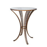 Flow 30 inch Hammered Ore Pub Table Home Decor, Varaluz Casa