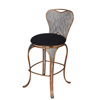 Varaluz Flow Bar Stool in Hammered Ore 240A08HO