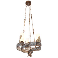 Varaluz Flow 3 Light Chandelier in Hammered Ore 240C03HO