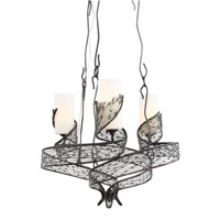 Flow 3 Light 21 inch Steel Chandelier Ceiling Light