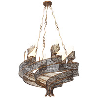 Varaluz Flow 6 Light Chandelier in Hammered Ore 240C06HO