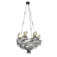 Varaluz Flow 6 Light Chandelier in Steel 240C06SL