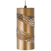 Varaluz Flow 1 Light Mini Pendant in Hammered Ore 240M01HO