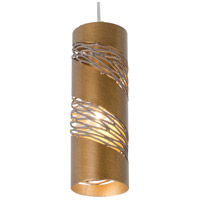 Varaluz Flow 1 Light Mini Pendant in Hammered Ore 240M01SHO