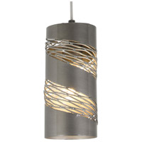 Varaluz Flow 1 Light Mini Pendant in Steel 240M01SL