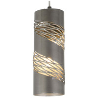 Varaluz Flow 1 Light Mini Pendant in Steel 240M01SSL