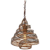 Varaluz Flow 1 Light Mini Pendant in Hammered Ore 240P01HO