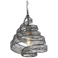 Varaluz Flow 1 Light Mini Pendant in Steel 240P01SL