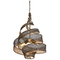 Varaluz 240P03HO Flow 3 Light 18 inch Hammered Ore Pendant Ceiling Light