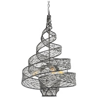 Varaluz Flow 3 Light Pendant in Steel 240P03SL