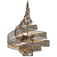 Flow 6 Light 26 inch Hammered Ore Pendant Ceiling Light