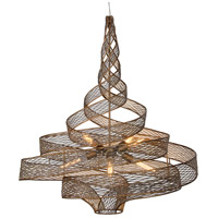 Flow 6 Light 30 inch Hammered Ore Pendant Ceiling Light