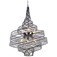 Varaluz 240P06SL Flow 6 Light 26 inch Steel Pendant Ceiling Light