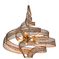 Flow 8 Light 36 inch Hammered Ore Pendant Ceiling Light