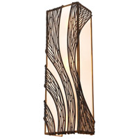 Varaluz Flow 3 Light Wall Sconce in Hammered Ore 240W03HO