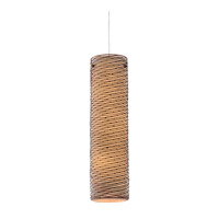 Varaluz Flow 3 Light Pendant in Hammered Ore with Tan Silk Slug Fabric 241F03HO