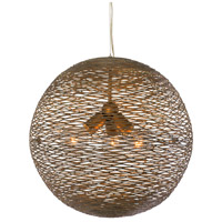 Varaluz 241P03HO Flow 3 Light 18 inch Hammered Ore Pendant Ceiling Light