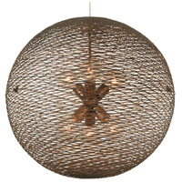 Flow 6 Light 24 inch Hammered Ore Pendant Ceiling Light