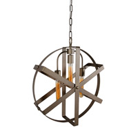 Reel 3 Light 20 inch Rustic Bronze Pendant Ceiling Light