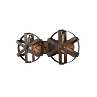 Reel 2 Light 22 inch Rustic Bronze Wall Sconce Wall Light