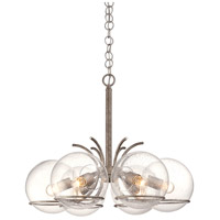 Varaluz Watson 6 Light Chandelier in Silver Age 243C06SA