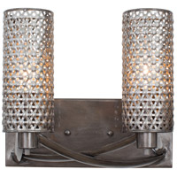 Casablanca 2 Light 11 inch Steel Vanity Wall Light
