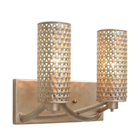 Casablanca 2 Light 11 inch Zen Gold Vanity Wall Light