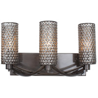 Casablanca 3 Light 17 inch Steel Vanity Wall Light