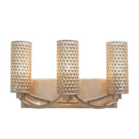 Casablanca 3 Light 17 inch Zen Gold Vanity Wall Light