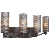 Casablanca 4 Light 24 inch Steel Vanity Wall Light