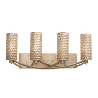 Casablanca 4 Light 24 inch Zen Gold Vanity Wall Light