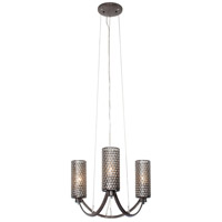 Varaluz 244C03SL Casablanca 3 Light 17 inch Steel Chandelier Ceiling Light
