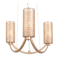 Casablanca 3 Light 17 inch Zen Gold Chandelier Ceiling Light