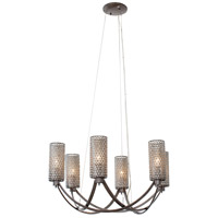 Varaluz Casablanca 6 Light Chandelier in Steel 244C06SL