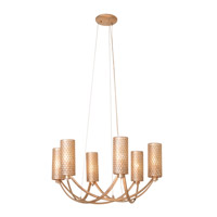 Casablanca 6 Light 25 inch Zen Gold Chandelier Ceiling Light