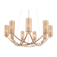 Varaluz Casablanca 9 Light Chandelier in Zen Gold 244C09ZG
