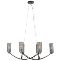 Varaluz Casablanca 6 Light Chandelier in Steel 244N06SL