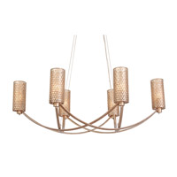 Varaluz 244N06ZG Casablanca 6 Light 36 inch Zen Gold Chandelier Ceiling Light