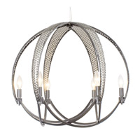 Varaluz Casablanca 6 Light Pendant in Steel 244P06SL