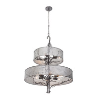 Varaluz Treefold 9 Light Chandelier in Steel 245C09SL