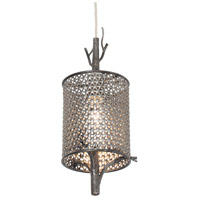 Varaluz Treefold 1 Light Mini Pendant in Steel 245M01SL