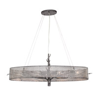 Varaluz Treefold 4 Light Linear Pendant in Steel 245N04SL