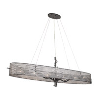 Treefold 6 Light 52 inch Steel Linear Pendant Ceiling Light