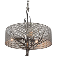 Varaluz Treefold 3 Light Pendant in Steel 245P03SL
