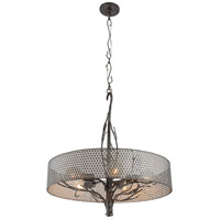 Varaluz Treefold 5 Light Pendant in Steel 245P05SL
