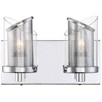 Varaluz 246B02CH So Inclined 2 Light 11 inch Chrome Bath Vanity Wall Light
