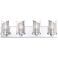 Varaluz 246B04CH So Inclined 4 Light 24 inch Chrome Bath Vanity Wall Light