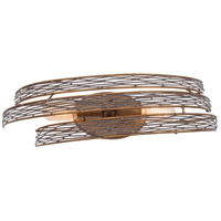 Flow 2 Light 21 inch Hammered Ore Vanity Wall Light
