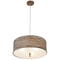 Varaluz 247P03HO Flow 3 Light 18 inch Hammered Ore Pendant Ceiling Light