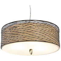 Varaluz Flow 3 Light Pendant in Steel 247P03SL